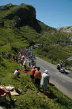 Etapa de la montaña del Tour de France Imagen de archivo libre de regalías
