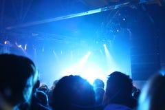 Etapa de la roca en club de noche Foto de archivo libre de regalías