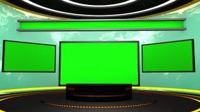 etapa de la televisión 3d Fotografía de archivo libre de regalías