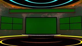 etapa de la televisión 3d Fotos de archivo