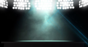 Etapa de Spotlit Fotografía de archivo libre de regalías