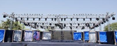 Etapa del concierto Fotografía de archivo