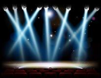 Etapa del teatro de los proyectores Foto de archivo libre de regalías