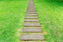 Etapa do caminho no jardim Imagem de Stock Royalty Free