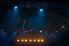 etapa en concierto de rock Imagenes de archivo
