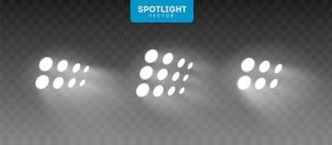Etapa grande iluminada por los proyectores Vector Eps10 libre illustration