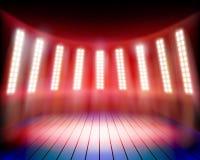 Etapa iluminada del teatro Ilustración del vector ilustración del vector