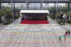 Etapa interna del patio de la alameda integrada del arluohai Foto de archivo