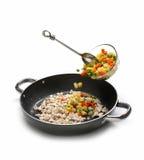Etapa para cozinhar no fundo branco Imagem de Stock Royalty Free