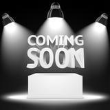 Etapa, relámpago de los proyectores ligeros del punto el podio Foto de archivo libre de regalías