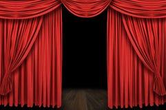Etapa roja grande de la cortina Imagen de archivo libre de regalías