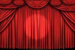 Etapa roja grande de la cortina Fotos de archivo