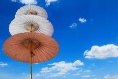Etapa três do guarda-chuva por feito a mão e pelo céu Imagem de Stock Royalty Free