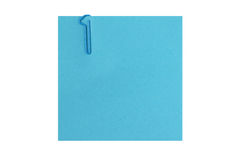 Etapa uma - nota de post-it isolada com o grampo do nr 1 Foto de Stock