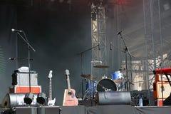 Etapa vacía del concierto Foto de archivo libre de regalías