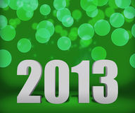 Etapa verde del fondo del Año Nuevo 2013 Fotografía de archivo libre de regalías