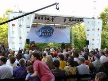 Etapa viva del festival de la tierra Foto de archivo libre de regalías