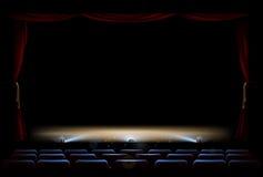 Etapa y cortinas del teatro ilustración del vector