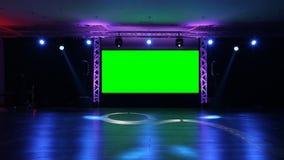Etapa y luces almacen de metraje de vídeo
