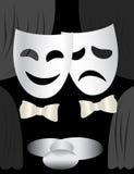 Etapa y máscaras del teatro Stock de ilustración