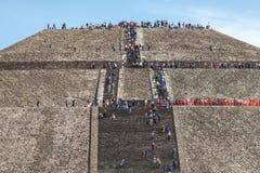 Etapas à pirâmide do Sun méxico Fotografia de Stock