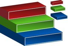 etapas 3D Imagens de Stock