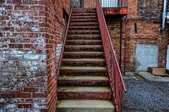 Etapas aleatórias a uma construção em Asheville, North Carolina, EUA fotografia de stock