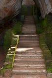 Etapas antigas na fortaleza e no palácio da rocha Foto de Stock Royalty Free