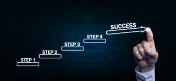 Etapas ao conceito do sucesso Imagens de Stock