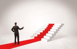 Etapas ao conceito do sucesso com homem de negócios Imagem de Stock