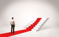 Etapas ao conceito do sucesso com homem de negócios Imagens de Stock