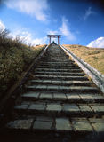 Etapas ao santuário de Hakone Motomiya Fotografia de Stock