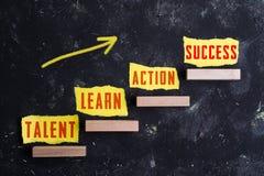 3 etapas ao sucesso imagens de stock royalty free