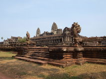 Etapas aos templos do watt do ankhor Imagem de Stock