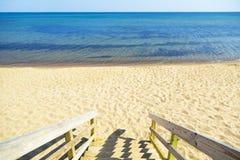 Etapas da praia Fotografia de Stock
