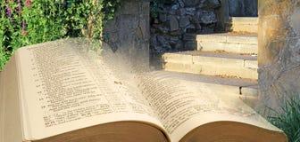 Etapas das parábolas da Bíblia ao céu fotos de stock