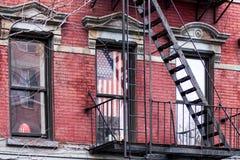 Etapas de fogo em New York Foto de Stock