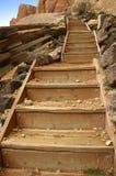 Etapas de madeira Imagem de Stock Royalty Free