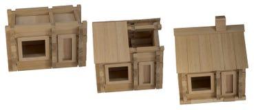 Etapas de madeira do conjunto da casa Foto de Stock