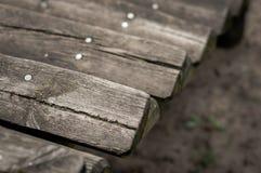 Etapas de madeira velhas Foto de Stock