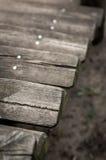 Etapas de madeira velhas Imagens de Stock