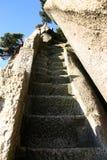 Etapas de pedra na montanha Foto de Stock Royalty Free