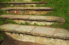 Etapas de pedra no monte Imagens de Stock Royalty Free