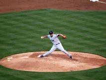 Etapas de Red Sox Daisuke Matsuzaka para a frente a lanç Imagens de Stock Royalty Free