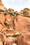 Etapas do arenito na garganta vermelha da rocha Imagem de Stock Royalty Free