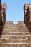 Etapas e parede no castelo de Silves Imagens de Stock Royalty Free