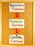 Etapas emocionales de la inteligencia Foto de archivo libre de regalías