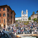 Etapas espanholas, Roma - Itália Foto de Stock Royalty Free