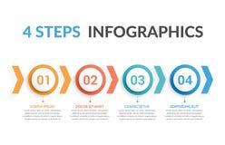 4 etapas Infographics Imagem de Stock Royalty Free