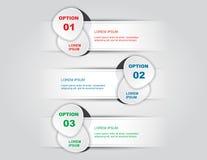 Etapas Infographics do branco três Fotografia de Stock